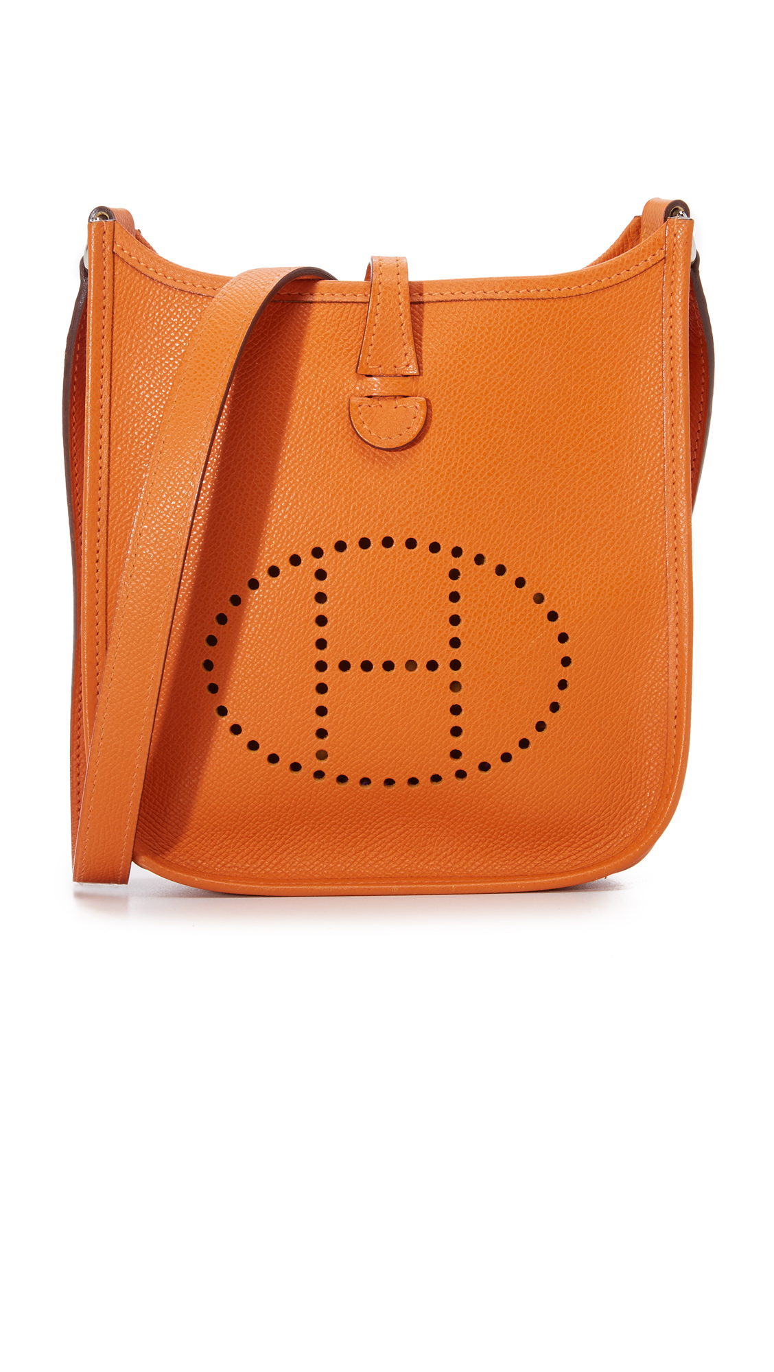 what goes around comes around female what goes around comes around hermes evelyne bag previously owned orange