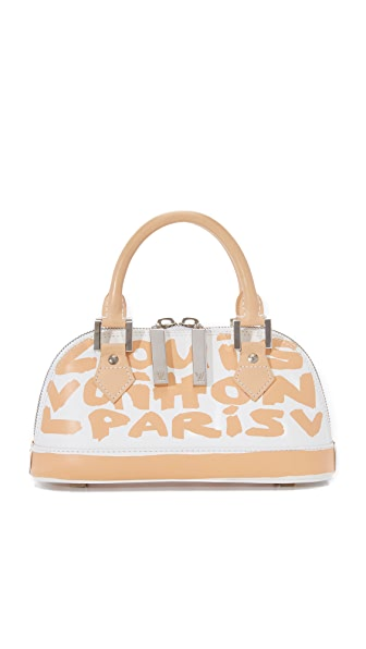 What Goes Around Comes Around Louis Vuitton Sprouse Alma Bag (Previously Owned) - White