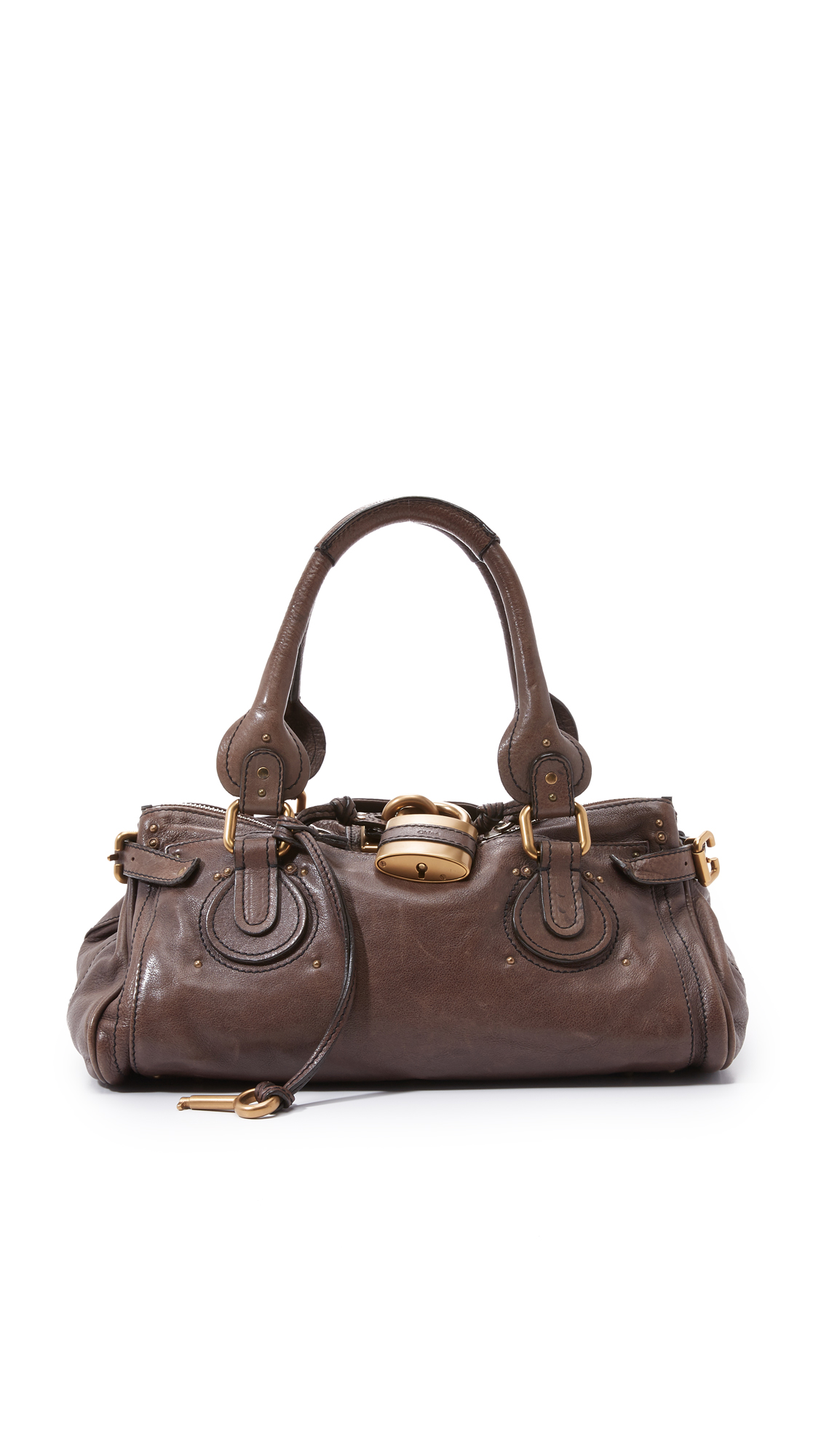 what goes around comes around female what goes around comes around chloe medium paddington bag brown