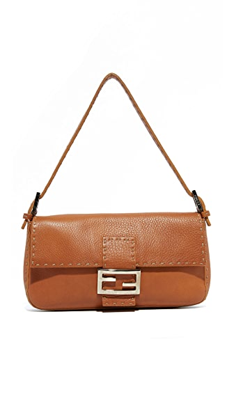 What Goes Around Comes Around Fendi Leather Baguette Bag (Previously Owned)