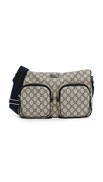 What Goes Around Comes Around Gucci Canvas Messenger Bag (Previously Owned)