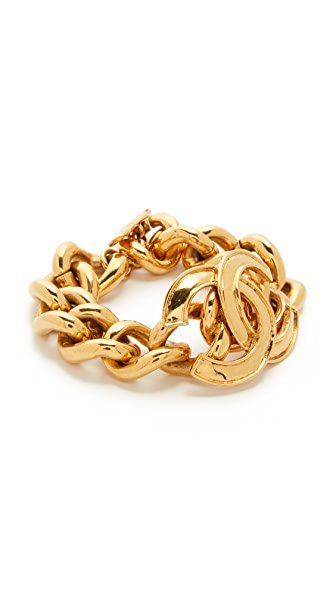 What Goes Around Comes Around Chanel CC Curb Chain Bracelet (Previously Owned)