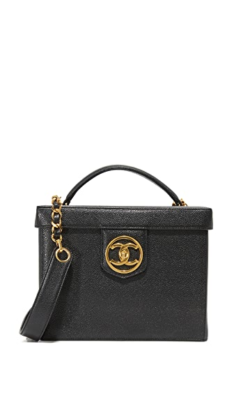 What Goes Around Comes Around Chanel Vanity Bag (Previously Owned) - Black