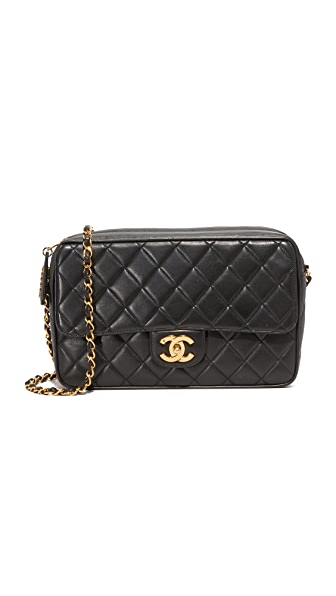 What Goes Around Comes Around Chanel Camera Bag (Previously Owned) - Black