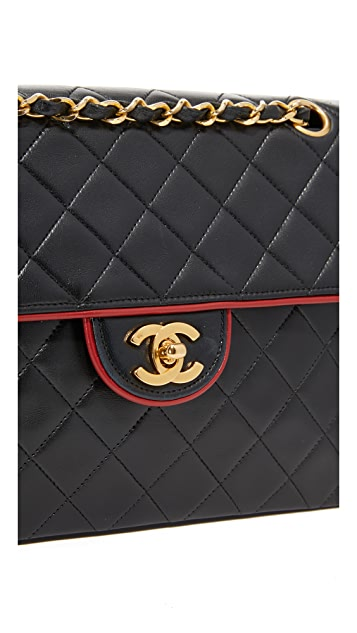 What Goes Around Comes Around Chanel Piped Shoulder Bag (Previously Owned)