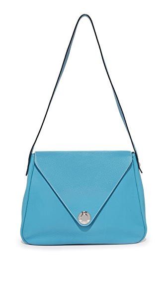 What Goes Around Comes Around Hermes Christine Shoulder Bag (Previously Owned) - Blue