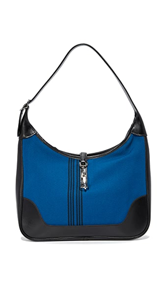 What Goes Around Comes Around Hermes Striped Shoulder Bag (Previously Owned) - Blue