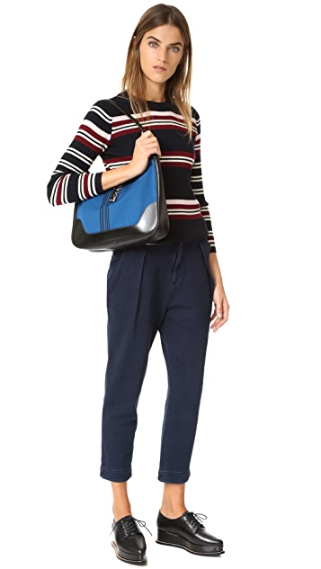 What Goes Around Comes Around Hermes Striped Shoulder Bag (Previously Owned)