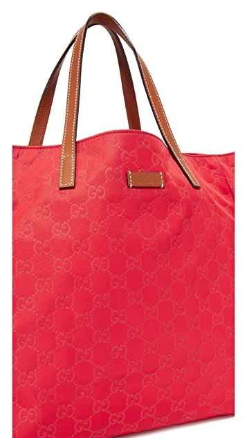 What Goes Around Comes Around Gucci Nylon GG Tote (Previously Owned)