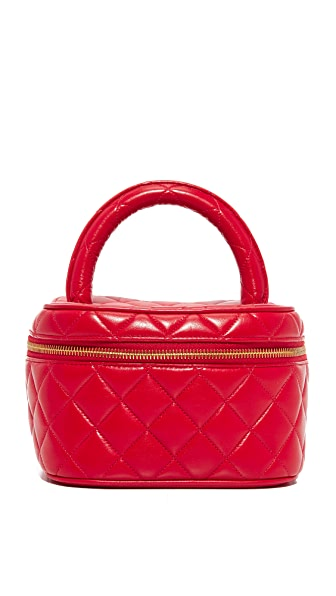 What Goes Around Comes Around Chanel Wide Vanity Bag (Previously Owned) - Red