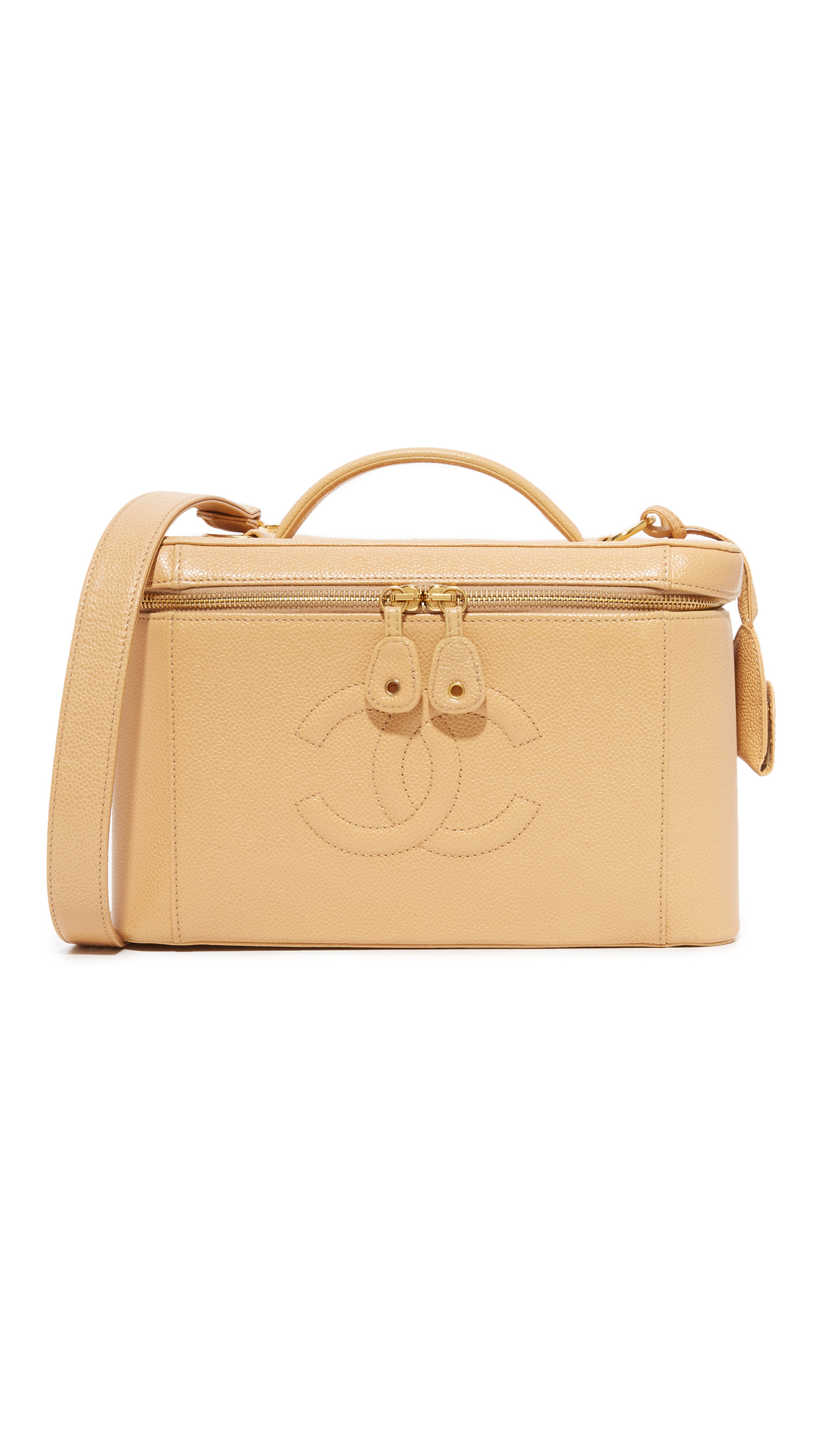 what goes around comes around female 186518 what goes around comes around chanel large vanity bag previously owned beige