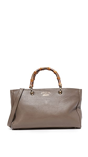 What Goes Around Comes Around Gucci Bamboo Shopper Tote (Previously Owned) - Brown