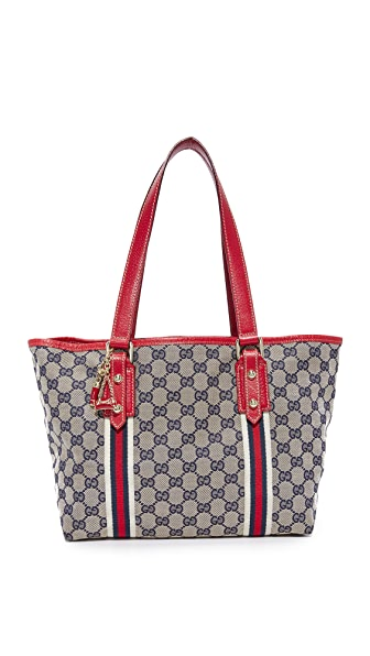 What Goes Around Comes Around Gucci Joli Coeur Tote (Previously Owned) - Brown
