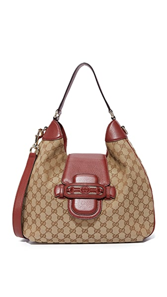 What Goes Around Comes Around Gucci Dressage Hobo Bag (Previously Owned) - Burgundy