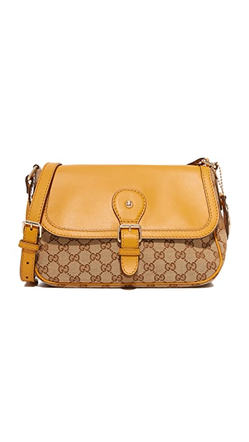 gucci yellow bag. what goes around comes gucci shoulder bag (previously owned) yellow