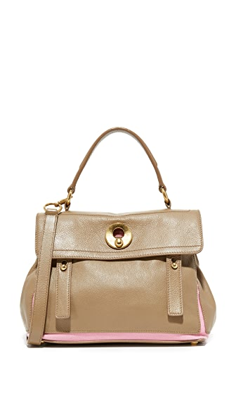 What Goes Around Comes Around YSL Taupe Muse Bag (Previously Owned) In Taupe