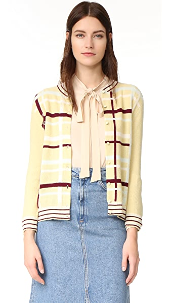 What Goes Around Comes Around Chanel Plaid Cardigan Sweater (Previously Owned)