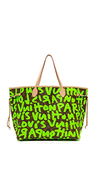 What Goes Around Comes Around Louis Vuitton Sprouse Neverfull Bag (Previously Owned) - Green