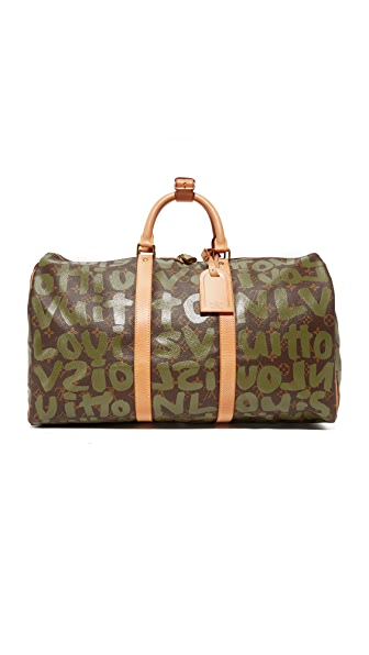 What Goes Around Comes Around Louis Vuitton Sprouse Keepall Bag (Previously Owned) - Green