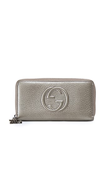 What Goes Around Comes Around Gucci Soho Wallet (Previously Owned) - Grey Metallic