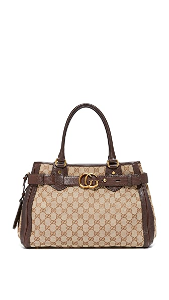 What Goes Around Comes Around Gucci Canvas Running Tote (Previously Owned) In Brown