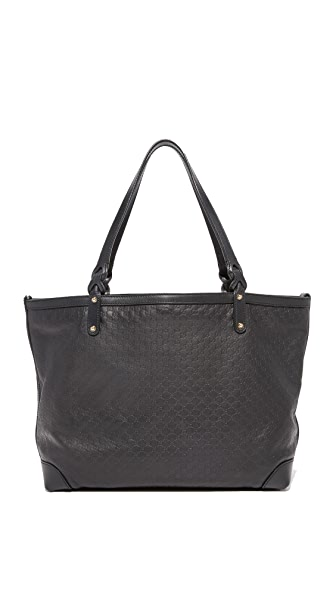 What Goes Around Comes Around Gucci Black Micro Craft Tote (Previously Owned) - Black