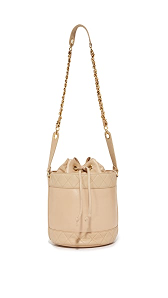 What Goes Around Comes Around Chanel Bucket Bag (Previously Owned) - Beige