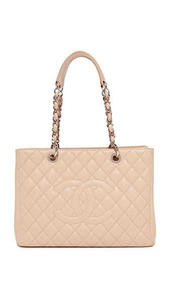 What Goes Around Comes Around Chanel Caviar Bag (Previously Owned) - Beige