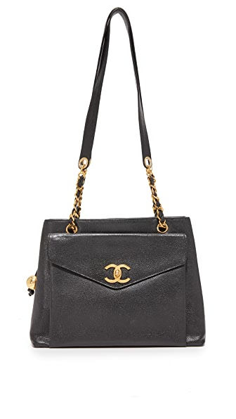 What Goes Around Comes Around Chanel Small Tote (Previously Owned) - Black