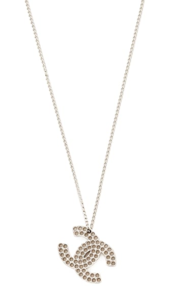 What Goes Around Comes Around Chanel Panching CC Necklace (Previously Owned) - Silver
