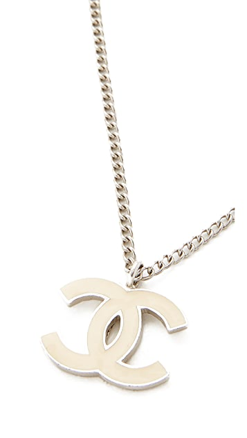 What Goes Around Comes Around Chanel Enamel CC Necklace (Previously Owned)