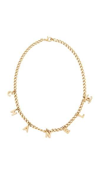 What Goes Around Comes Around Chanel Charm Necklace (Previously Owned) - Gold