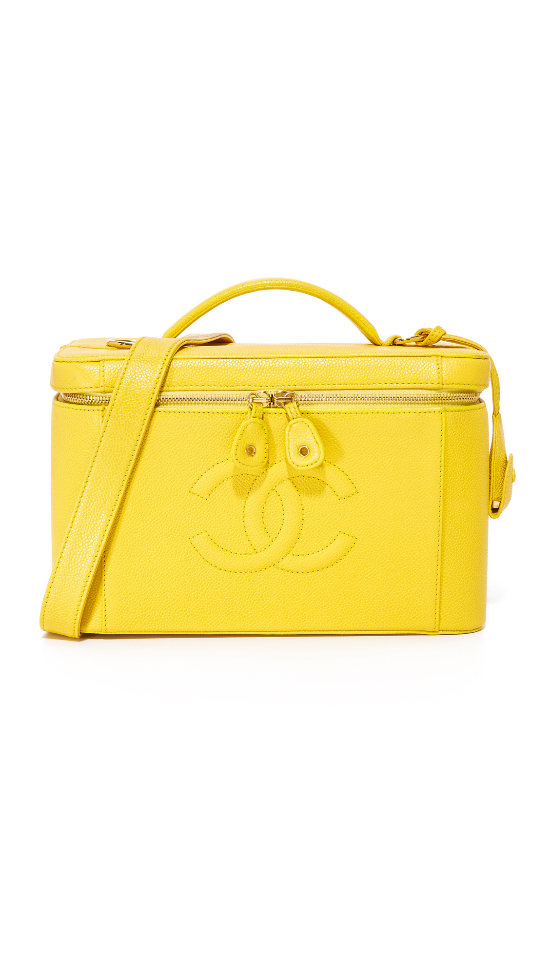 What Goes Around Comes Around Chanel Caviar Vanity Bag (Previously Owned) - Yellow