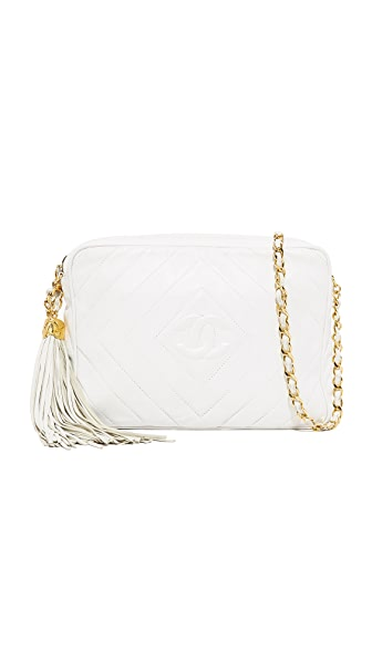 What Goes Around Comes Around Chanel Medium Camera Bag (Previously Owned) - White