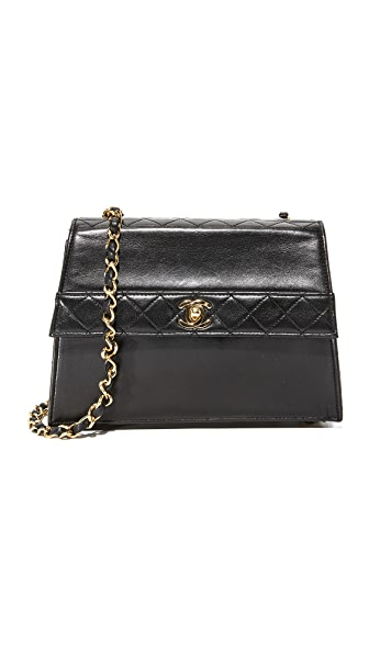 What Goes Around Comes Around Chanel Trapezoid Bag (Previously Owned) - Black