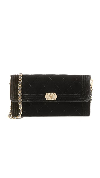 What Goes Around Comes Around Chanel Velour Bag (Previously Owned) - Black