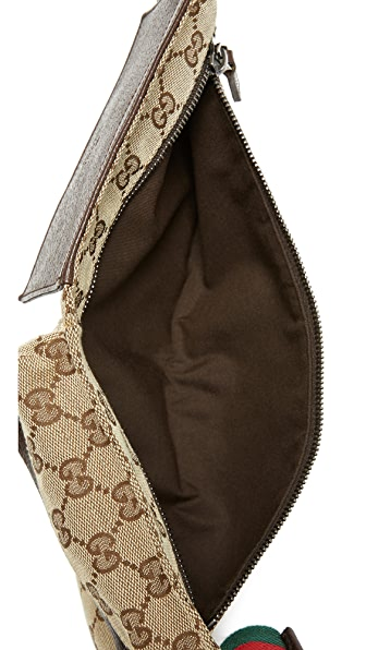 WHAT GOES AROUND COMES AROUND Gucci Canvas Waist Pouch (Previously Owned)