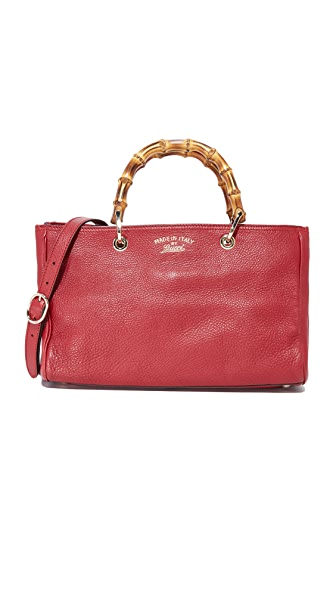 What Goes Around Comes Around Gucci Red Bamboo Shopper (Previously Owned) - Red