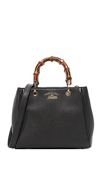 What Goes Around Comes Around Gucci Mini Bamboo Tote (Previously Owned) - Black