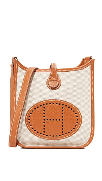 What Goes Around Comes Around Hermes Canvas Evelyne Bag (Previously Owned) - Brown