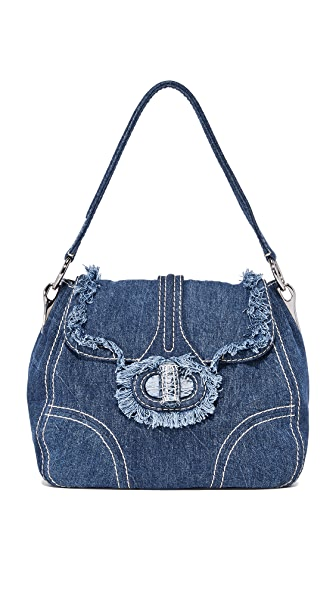 What Goes Around Comes Around Prada Denim Shoulder Bag (Previously Owned) - Blue Denim