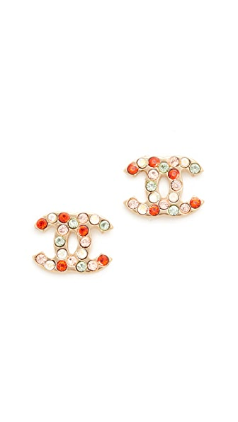 What Goes Around Comes Around Chanel Multi CC Earrings (Previously Owned)