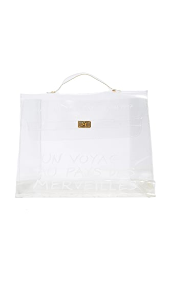 What Goes Around Comes Around Hermes Clear Vinyl Kelly Satchel (Previously Owned) - Clear