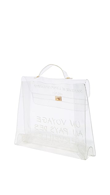 What Goes Around Comes Around Hermes Clear Vinyl Kelly Satchel (Previously Owned)
