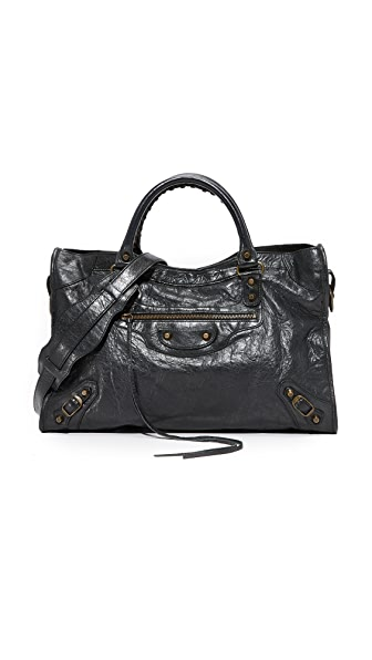 What Goes Around Comes Around Balenciaga Classic City Satchel (Previously Owned) In Black