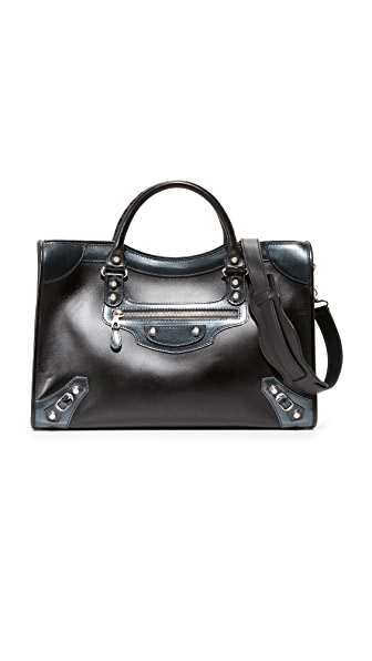 What Goes Around Comes Around Balenciaga Giant City Satchel (Previously Owned) - Black