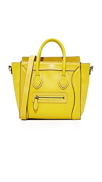 What Goes Around Comes Around Celine Nano Tote (Previously Owned) - Yellow