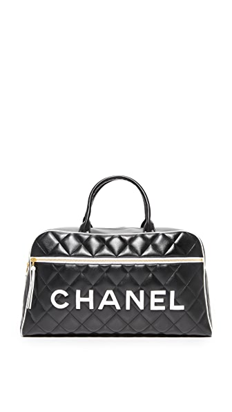 What Goes Around Comes Around Chanel Bowler (Previously Owned) - Black/White
