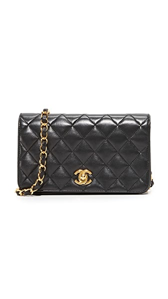 What Goes Around Comes Around Chanel Mini Flap Bag (Previously Owned) - Black
