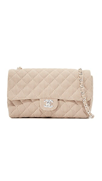 What Goes Around Comes Around Chanel Half Flap Shoulder Bag (Previously Owned) In Beige Multi